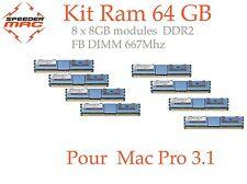  Kit Mémoire 64 GB (8x 8GB) DDR2  667MHz - FB-DIMM pour Mac Pro 3.1 Early 2008
