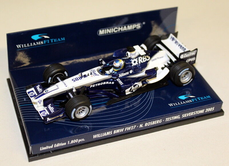 Minichamps Escala 1 43 400 050099 050099 050099 Williams BMW FW27 N Rosberg platastone 2005 F1 7488d8