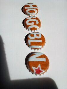Complete Set of 4 HOBGOBLIN Golden Ale bottle tops. No dents! Wychwood beer caps