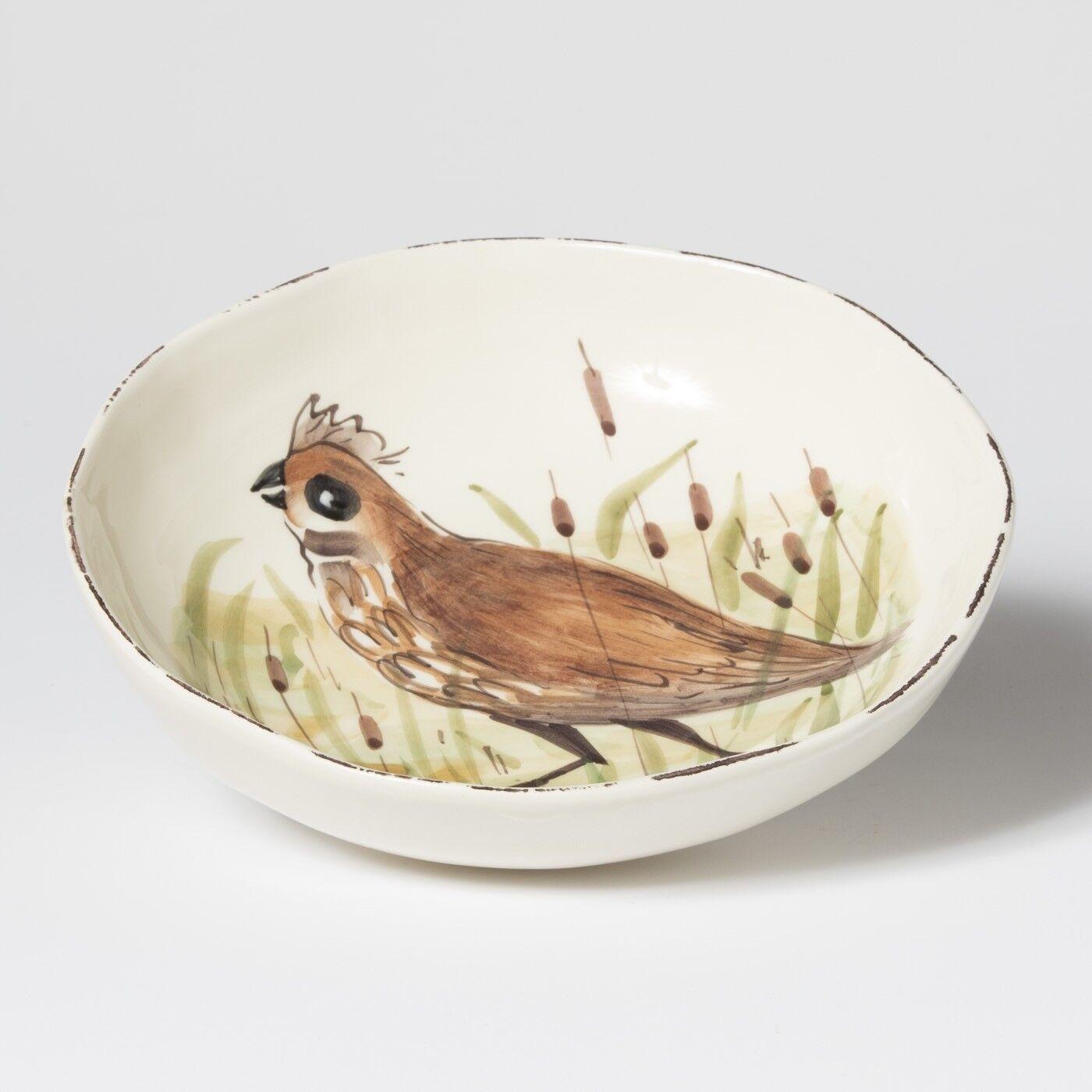 Vietri Wildlife Caille Pasta Bowl-Lot de 4