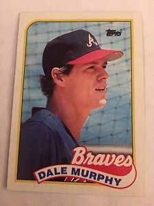 Details About 1989 Topps 210 Dale Murphy Atlanta Braves