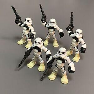 5PCS Playskool Star Wars Galactic Heroes Jedi Force STORMTROOPER Storm Trooper