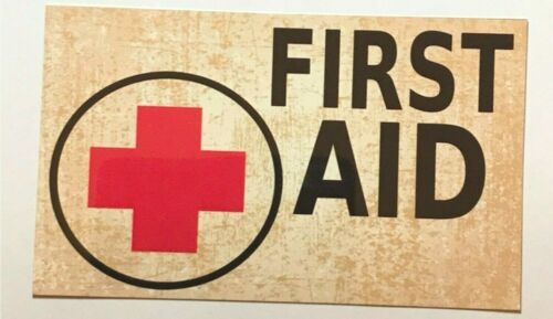 First Aid Medical Sign Retro Vintage Wall Plaque Vintage Hanging Decor Home