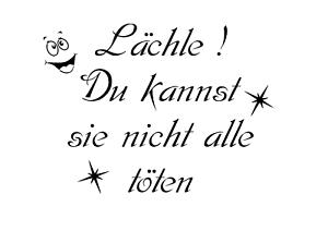 """/"""" auf A4 Schablone /"""" Lächle"""