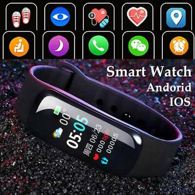 Waterproof Smart Watch Heart Blood Pressure Rate Fitness For iPhone Android👍👍  | eBay