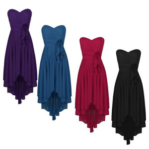 Women-039-s-Chiffon-Bridesmaid-Dress-High-low-Evening-Party-Formal-Gowns-Prom-Dress