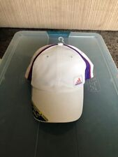 ADIDAS Women's Athlete Cap Climacool White/Pink/Purple Retail $20 (velcro back)