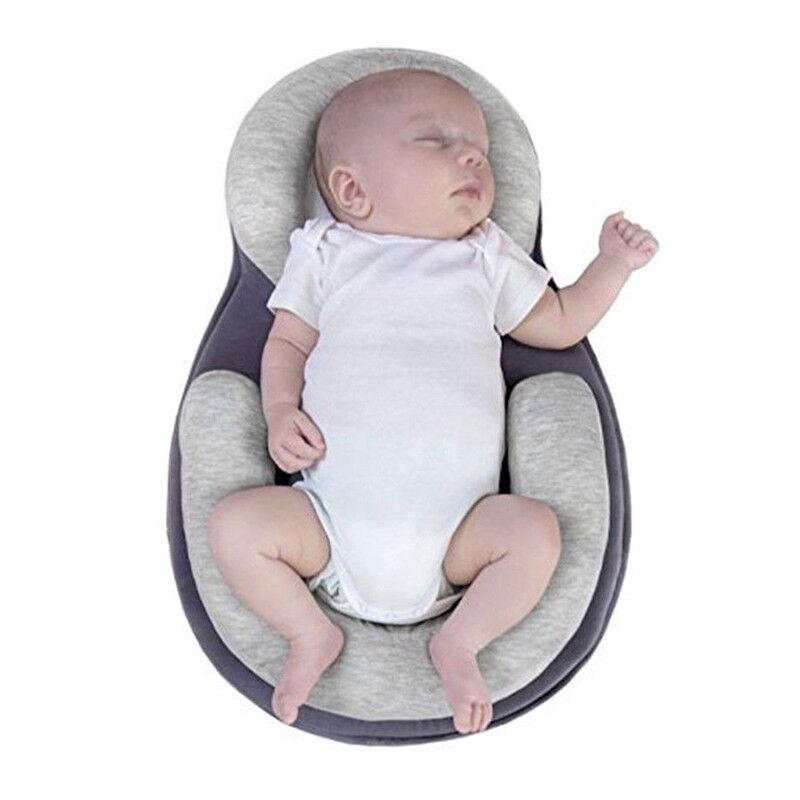 Newborn Infant Baby Pillow Cushion Prevent Flat Head Sleep Nest Pod Anti Roll UK 6