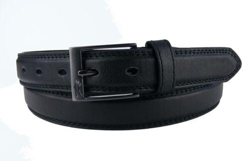 Herrengürtel Damengürtel schwarz Naht schmal 2,5 cm Jeansgürtel HRG67