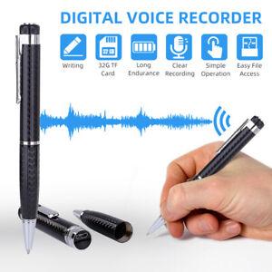 Voice Recorder Pen Mini Audio Digital Voice Hidden Spy Recording Headphones