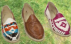 Women Handmade Authentic Mexican Genuine Soft Leather Sandal Huaraches Mexicanos
