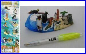 Raro-Set-8-Figuras-Coleccion-Surf-039-s-Up-Pinguinos-Penguins-Original-TOMY-Gashapon