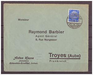 Empire-Allemand-Minr-522-Ef-Hohenstein-Ernstthal-apres-Troyes-France-1936