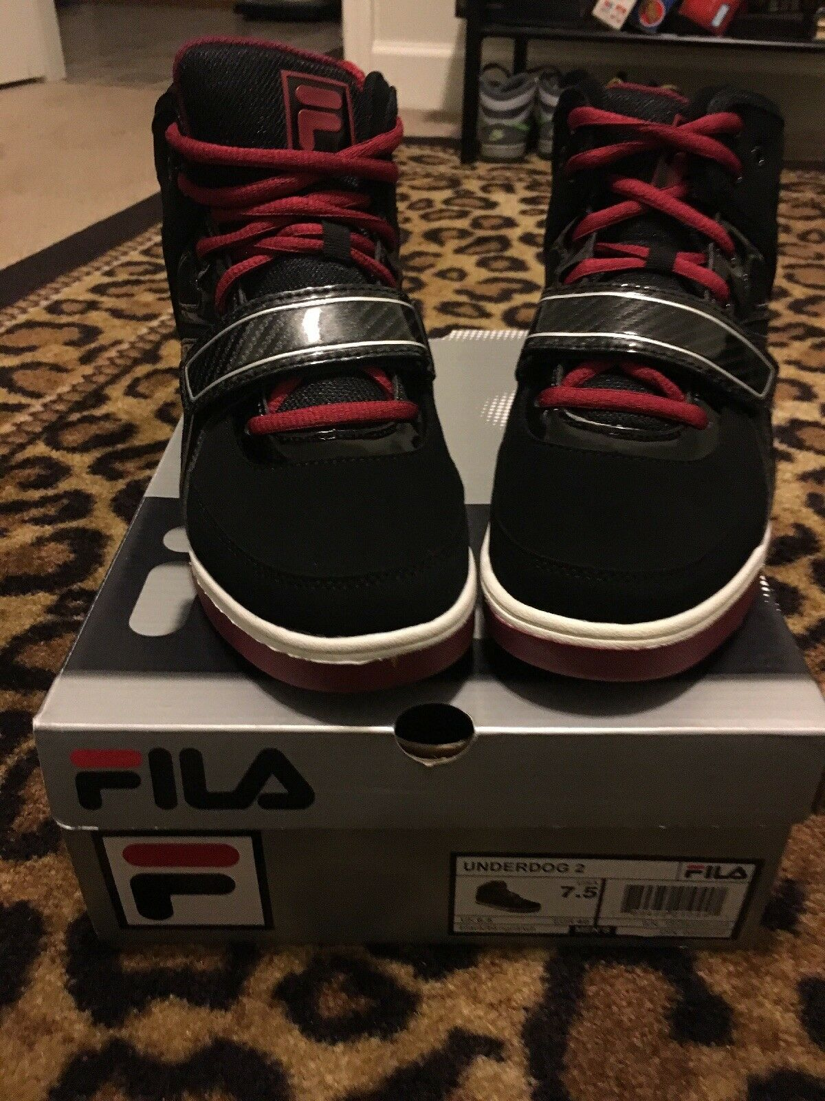 Fila Men's Underdog 2 High Top Athletic Tennis Shoes Sz 7.5 MultiColor Sneakers