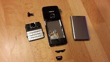 NEU Nokia 6300 / 6300i Gehäuse, Akkudeckel, Tastatur   ; Farbe   schwarz-silber