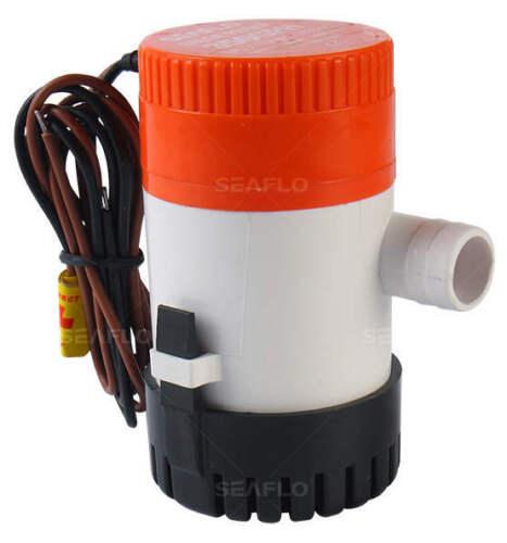 SEAFLO 12v 350 GPH Marine Boat Submersible Bilge Pump 4 Year Warranty