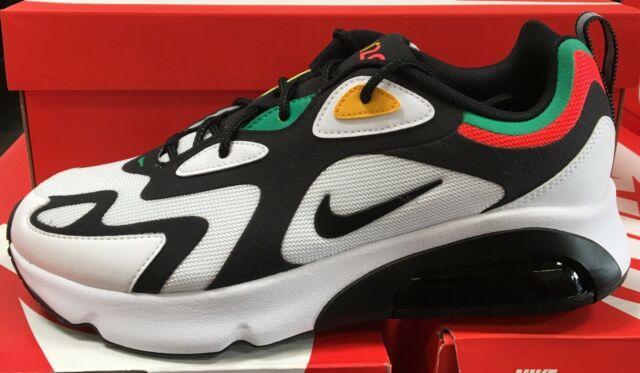 Nike Air Max 200 Men's Casual Sneakers WhiteBlackBright Crimson AQ2568 101 K