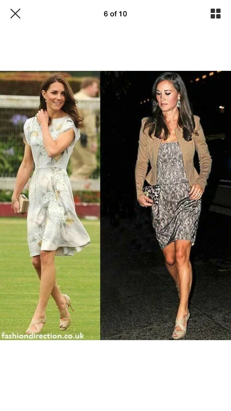 Lk bennett 39, Uk 6 Nude, Beige Summer Heels, As Seen On Duchess, Fan