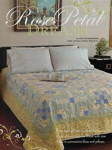 """Rose Petal Dreams Finished Size -88""""x88"""" Quilt pattern only"""