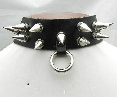 20mm Metal Spike Punk EMO Biker Gothic Collar Choker Necklace TEN110