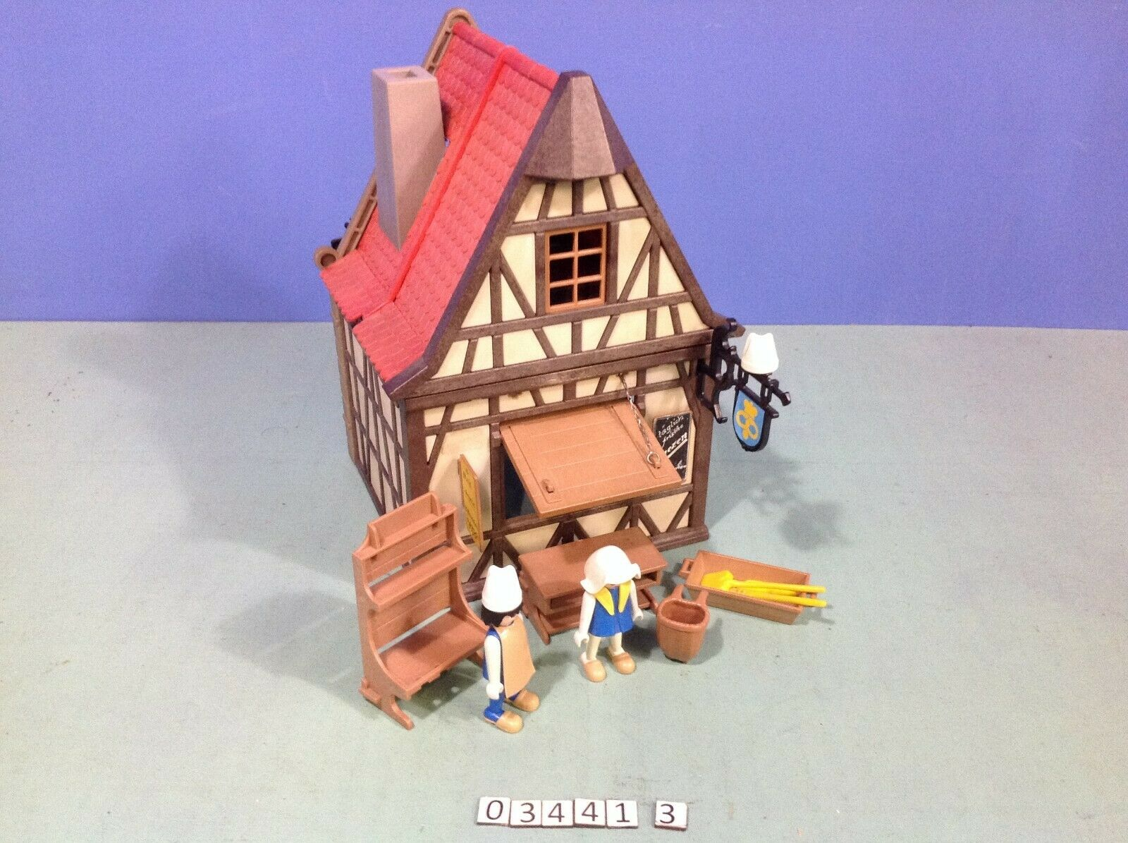 (O3441.3) playmobil boulangerie médiévale ref 3441 année 77 -  81  da non perdere!