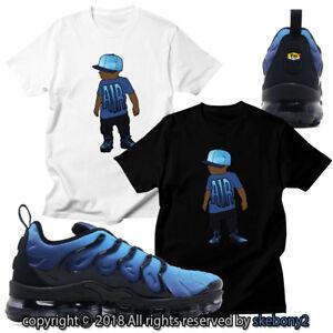 NEW CUSTOM T SHIRT matching NIKE AIR VAPORMAX PLUS RETUNED AIR blue ... d3e8b8dd1