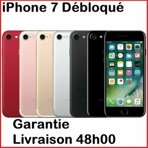Apple-iPhone-7-32-Go-128Go-Debloque-Noir-Or-Rose-Argent-ROUGE-bon-etat-PRO