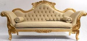Image Is Loading Double Ended Chaise WEDDING SOFA Ornate French Gold