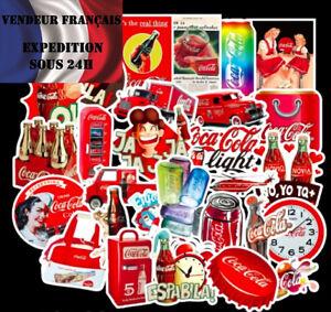 Lot-autocollants-stickers-COCA-COLA