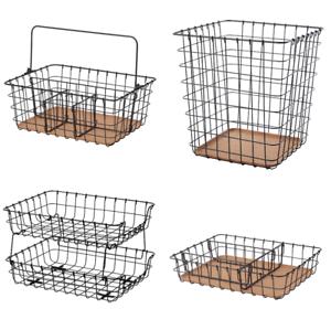 IKEA PLEJA Briefablage Drahtkorb Box Papierkorb Schreibutensilienfach Organizer