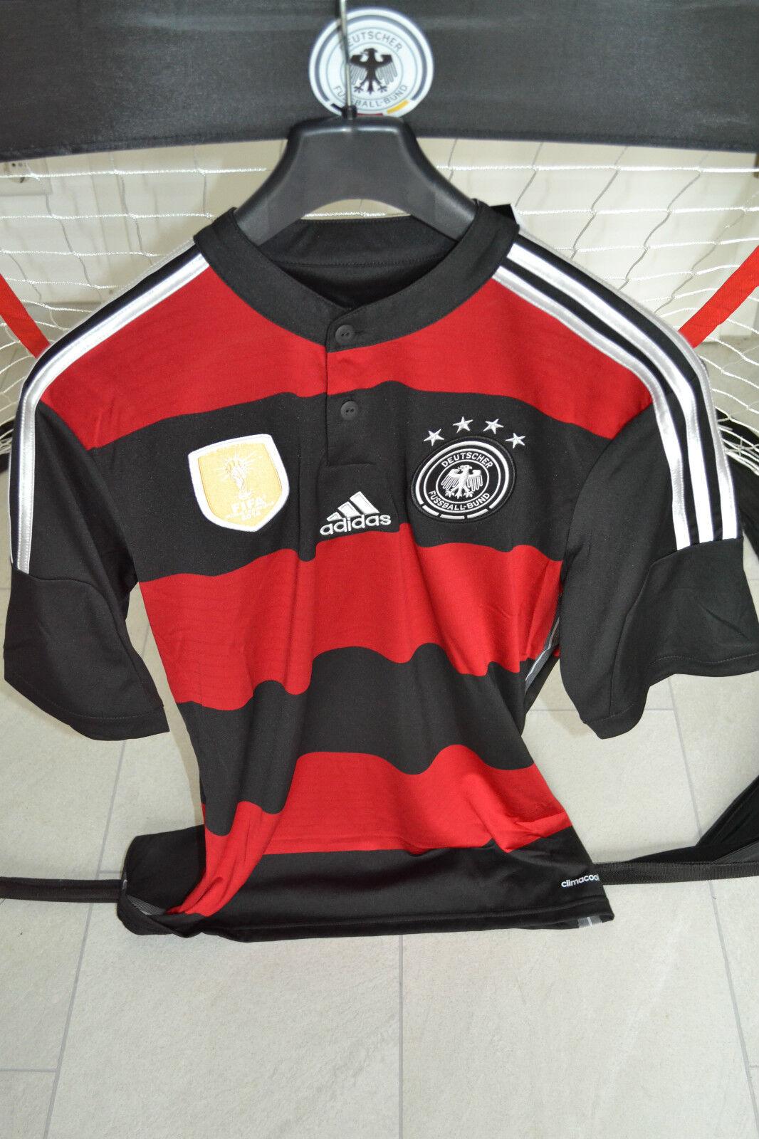 ADIDAS DEUTSCHLAND Trikot AWAY WM 2014 ,S,NEU,4 Sterne,FIFA,ROT,DFB TRIKOT