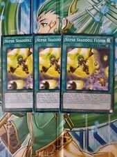 3X Nephe Shaddoll Fusion SDSH-EN025 Common 1ST Edition NM yugioh!
