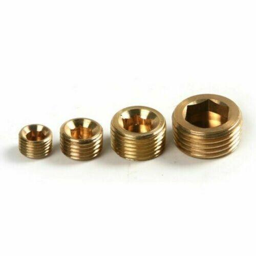 20pcs Brass Internal Hex Thread Socket Pipe Duct Plug Cap 1//8 1//4 3//8 1//2 NPT