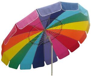 Beach Umbrella Rainbow Pop Up Beach Shelter Outdoor Canopy