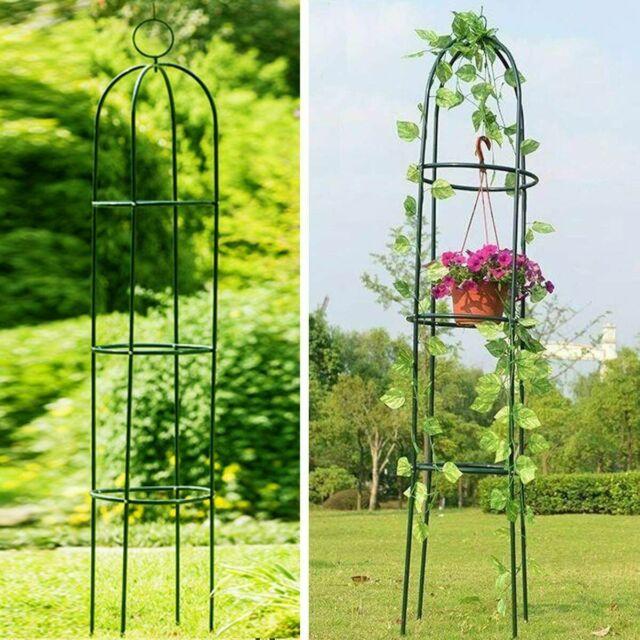 6 Ft Garden Obelisk Metal Trellis Climbing Vine Plants Grow Support Garden Yard For Sale Online Ebay
