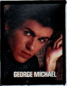 GEORGE-MICHAEL-039-GLANCING-039-039-vintage-sew-on-photo-patch-WHAM-80-039-s