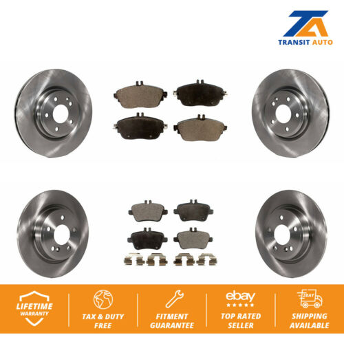 Front Disc Brake Rotors And Ceramic Pads Kit For Mercedes-Benz CLA250 GLA250
