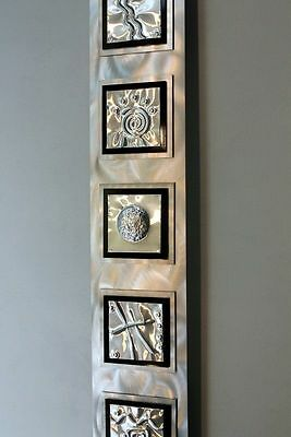 Metal Abstract Modern Wall Art  Sculpture Decor Five Elements By Jon Allen