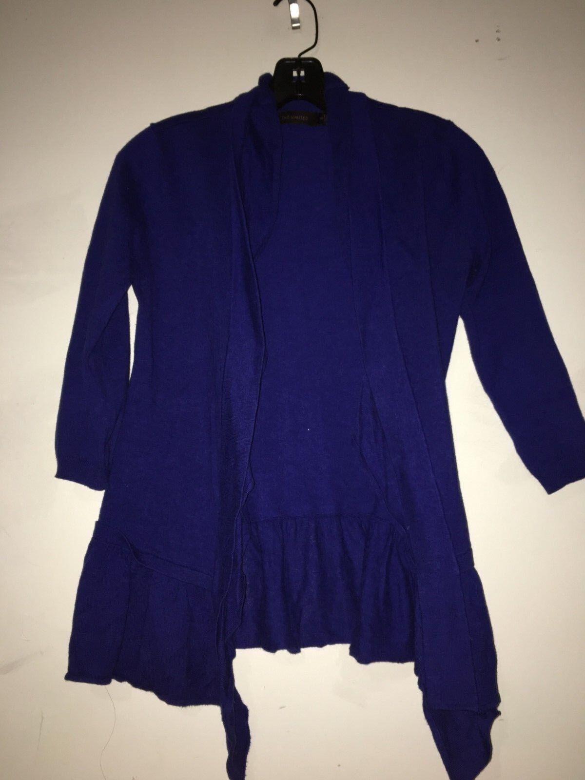 The Limited Royal bluee Size XS Ruffle Stylish Modern Cardigan Sweater Women