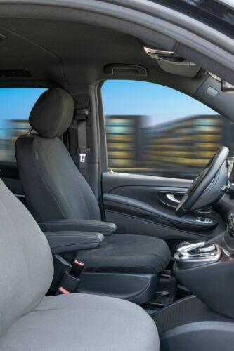 Stoff Transporter Sitzbezüge Mercedes V-Klasse 477 Fahrer Einzelsitz ab 06//14