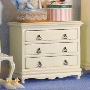 Escala 1//12 casa de muñecas Emporium estilo francés blanco cómoda 5693