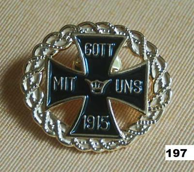 Pin Gott mit uns Eisernes Kreuz Anstecknadel