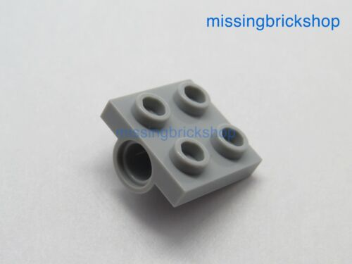 Lego 5x Plate Modified 2x2 Pin Hole Full Cross Support Light Bluish Grey 10247