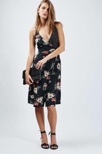 Topshop Floral Wrap Slip Dress Size 4