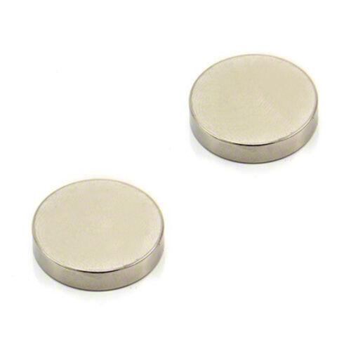 x2 24mm dia x 5mm N42 Neodymium Strong Magnet 7.9kg Pull