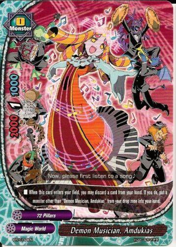 Amdukias Buddyfight Promo Rare HOT MINT FREE SHIP 4x Demon Musician