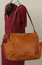 SCUOLA DEL CUOIO FIRENZE Brown Leather Hobo Shoulder Bag Handbag Purse EUC!