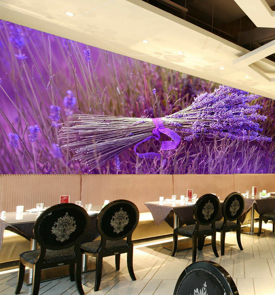 3D Lavender 439 Wallpaper Murals Wall Print Wallpaper Mural AJ WALL UK Jenny