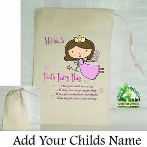 Girl-First-Tooth-Fairy-Mini-Bag-Cotton-Drawstring-Personalised-Keepsake-Pink
