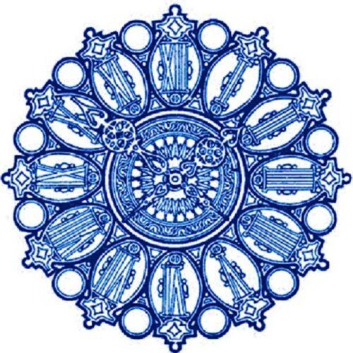 30 Custom Blue Ornate Art Personalized Address Labels